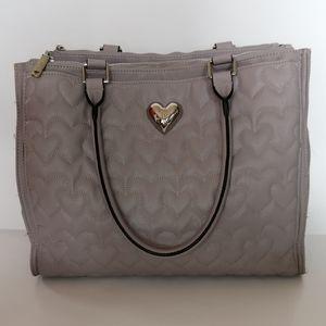 Betsy Johnson Heart Stitched Shoulder Bag
